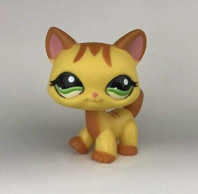 littlest pet shop 1137 kitty cat yellow brown walking