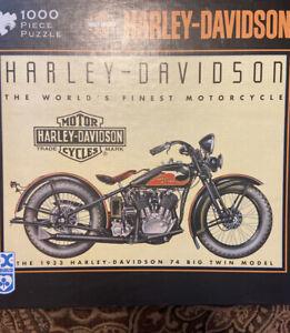 Harley Davidson Motorcycles Photomosiacs 1000 Piece Puzzle Ebay