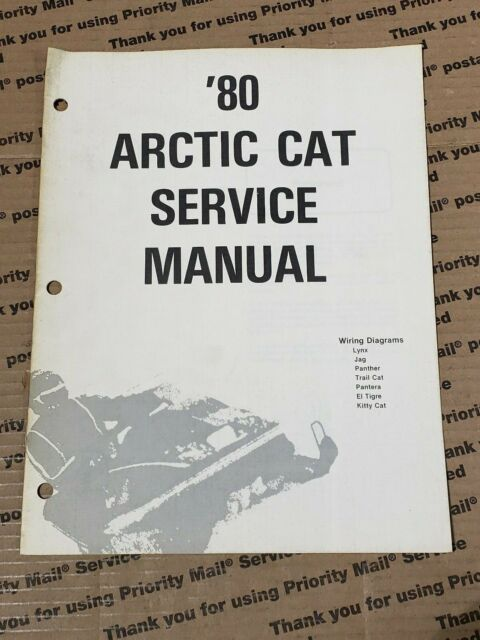 Arctic Cat Snowmobile 1980 Wiring Diagrams Service Manual