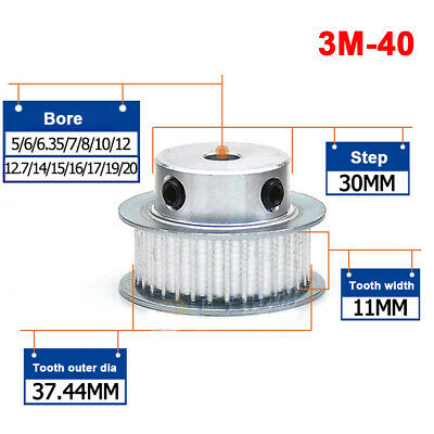 3M20T Synchronous Wheel D-shaped Bore Timing Belt Pulley For 10mm Width Belt
