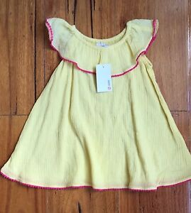 9ee119ab3 NEW Target Baby Girl Summer Dress Yellow Pink Infant Size 6-12 Month ...