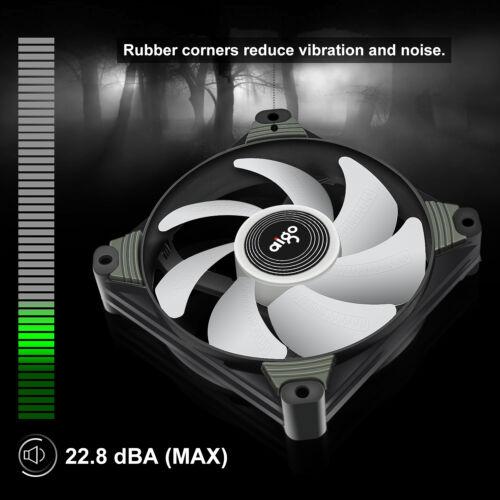 2-Pack Aigo X1 120mm Purple LED High Airflow Hybrid-Design PC Case Computer Fan