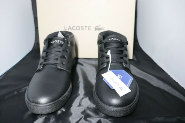 LACOSTE Mens Timeless Fashion ASPARTA 119 Black Leather Sneakers Shoes Casual