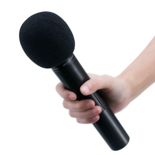 5 Pack Mudder 5 Pack Foam Mic Cover Handheld Microphone Windscreen Black