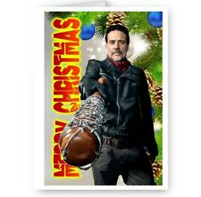 Zombies Personalised Name TWD Happy Christmas Walking Dead A5 Card