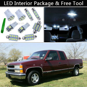 14pcs led interior lights package kit fit 95 98 chevy. Black Bedroom Furniture Sets. Home Design Ideas