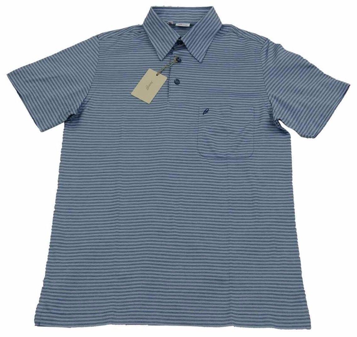 Brioni  Herren Polo T Shirt Handmade SZ S / EU 46 UK 36 Made in italy Cotton