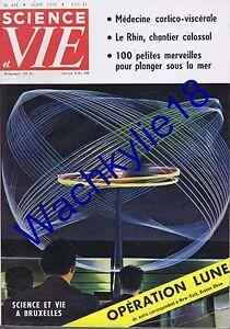 Science-et-vie-n-491-du-08-1958-Lune-Plongee-Rhin-Bruxelles-Pain-Medecine