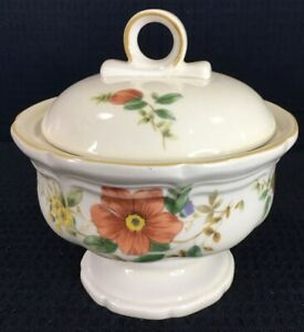 Mikasa Heritage Capistrano F2010 Footed 1 Cup Sugar Bowl With Lid Made In Japan