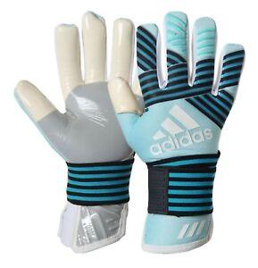 Adidas Men GK ACE Trance Pro Goalkeeper Gloves Aqua Black Soccer ... 9b8741a24f62