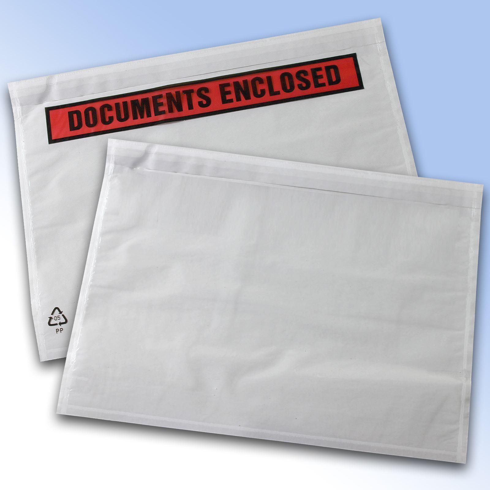 Plain & Printed Document Enclosed Envelope Wallets A4 A5 A6 A7 DL