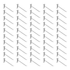 50 Pc 8 Chrome Grid Wall Metal Hooks Display For Use With Gridwall Panels