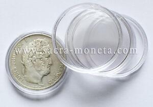 Capsules-plastique-rondes-pour-pieces-de-5-Francs-Argent-diametre-37-mm