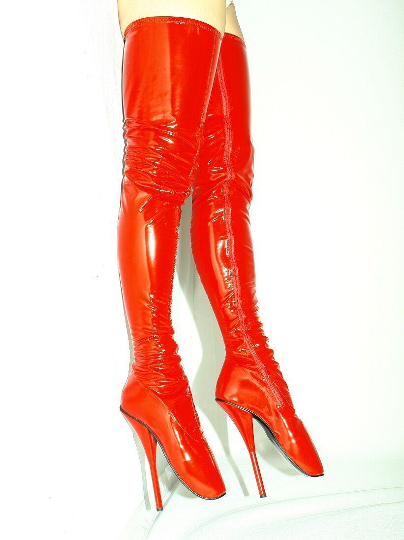high heels stiefel lack- pu  ballet  Größe 37-47  heel 21cm POLAND