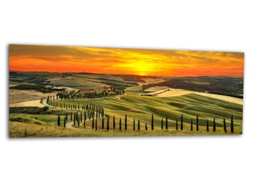 Photos de véritable peintures murales photo sur verre Toscane 125 x 50 cm ag-02170