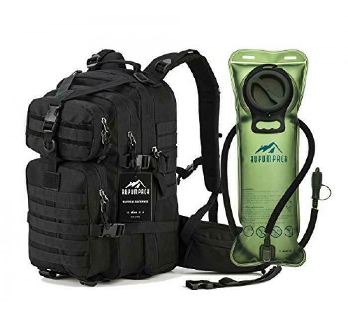 RUPUMPACK Military Tactical Backpack Hydration Backpack, Army MOLLE borsa, Smtutti