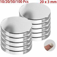 Super Strong N50 Round Disc Fridge Magnets Neodymium Small Rare Earth 20mm X 3mm