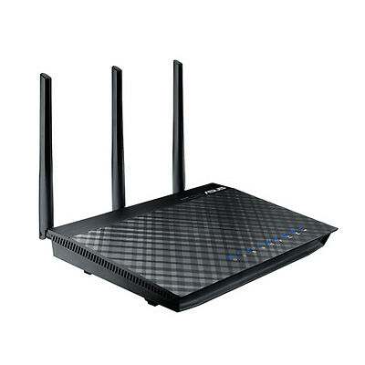 ASUS RT-AC66U AC Dual Band Wireless Cable Router Black, Up to 1333 Mbps