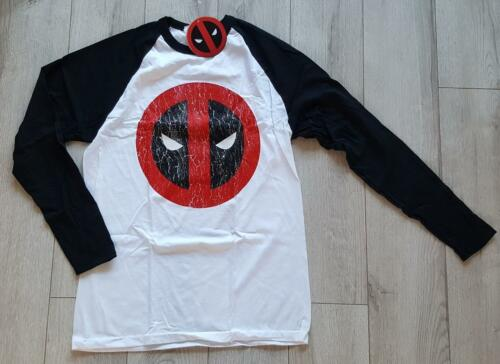 Marvel Deadpool Craced logo Men/'s long sleeves top size M new with tag #58