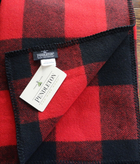 Pendleton Wool Blanket Queen NWT Washable Red Rob Roy Tartan Plaid Made In USA