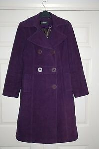 Moleskinfluweelachtig Xmas 10 Purple 8 New Planet Oversized jasje Sz Buttons nwPO0k