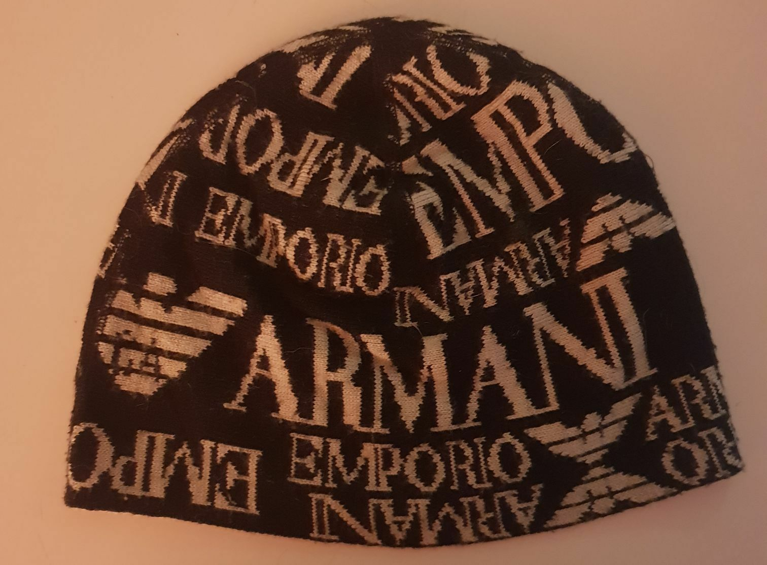 Cappello Beanie Emporio Armani Vintage in lana introvabile