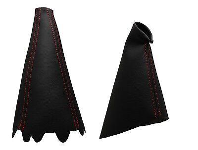 2001-2008 Para FIATSTILO Modelos Funda para Palanca de Cambio y Freno 100/% Piel Color Negro