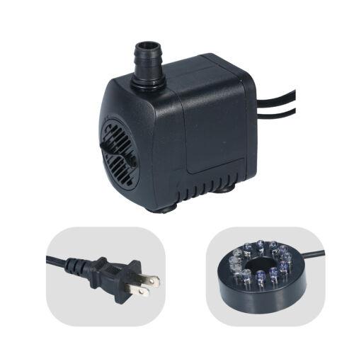 2020 800L//H Ultra-Quiet Aquarium Pond Tank Pool Water Fountain Pump US Plug Z5A5