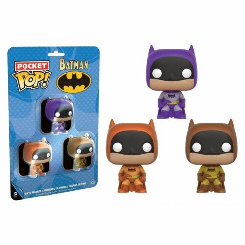 BATMAN FUNKO POCKET POPS Set Of 3 Purple Orange Yellow DC