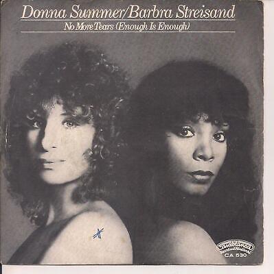 45 Giri Vinile No More Tears Enough Is Enough Donna Summer Barbra Streisand Ebay