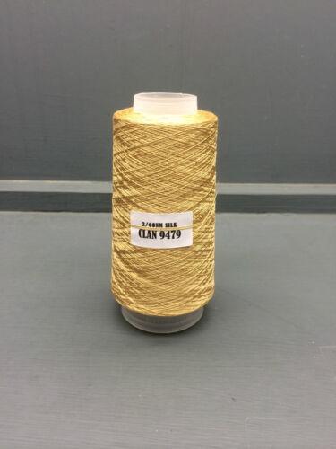 100g Luz Camel Color 2//60nm 100/% Fina Seda Hilo Clan 9479