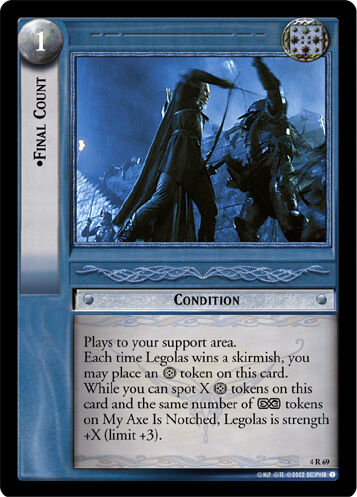 LOTR TCG Two Towers 4R69 Final Count NM//Mint