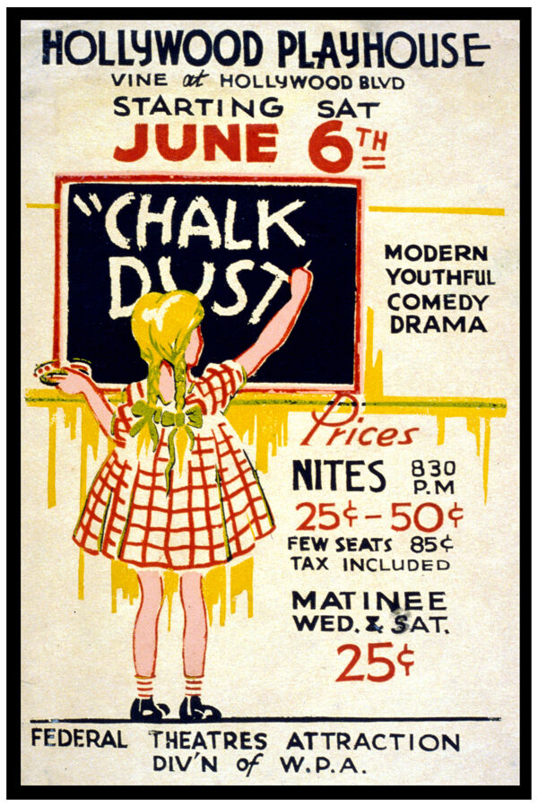 2627.Hollywood playhouse Chalk Dust POSTER.Home decor interior room design art