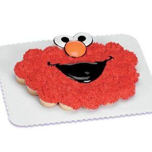 Details About New Sesame Street Elmo Face Cake Topper Kit