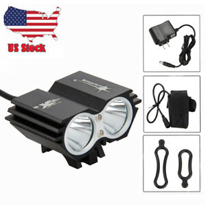 SolarStorm 6000LM 2xXML T6 LED Front Bicycle Light Bike lamp Headlight+Rear Lamp