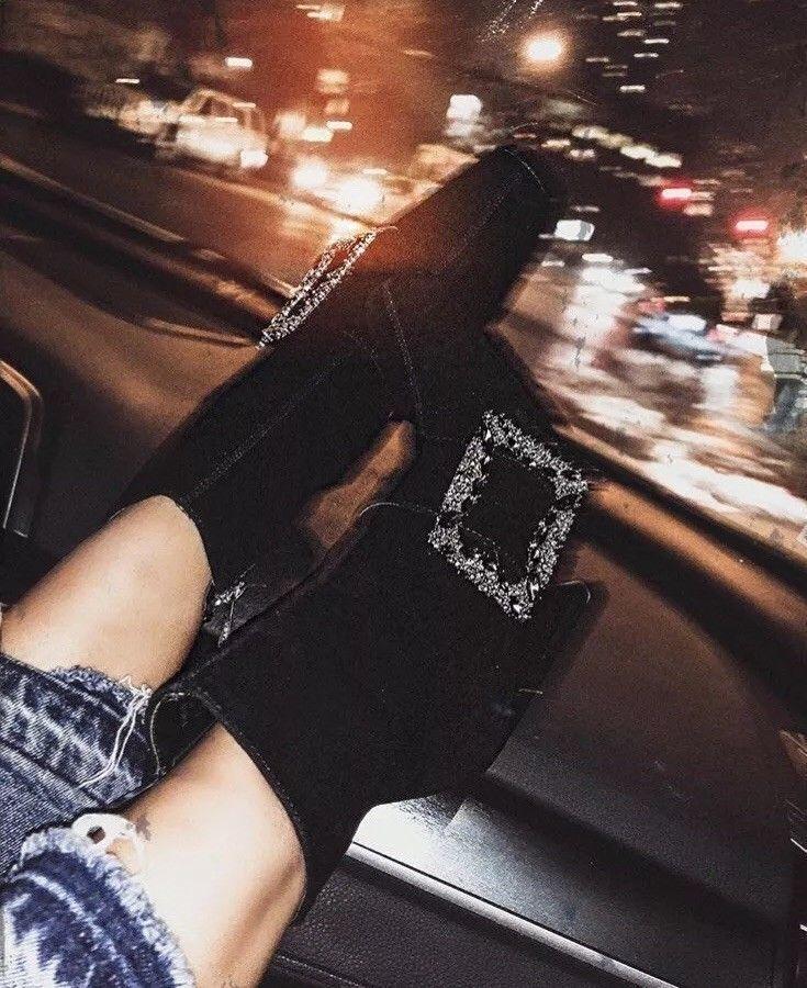 Zara Negro Gamuza Tacón Alto botas al tobillo con hebilla etiquetas AW17 tamaño 8EUR Nuevo