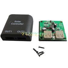 5v 2A Solar Panel Power Bank TWO USB Charge Voltage Controller Regulator 6V-20V