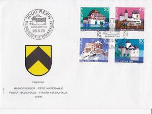 SW198-Switzerland-1978-Pro-Patria-Castles-FDC