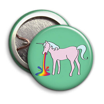 Unicorns Button Badge - 25mm 1 inch - Hipster Rainbow Funky