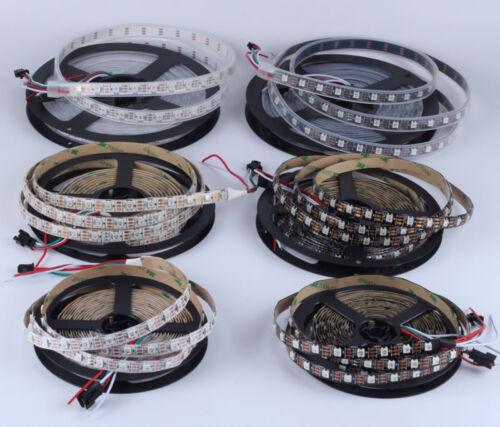 DC 5V WS2812B 5050 RGB LED Strip Tube 30//60//144LEDs//M IC Individual Addressable