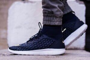 Nike Free Hypervenom 3 FC FK Mens 898029-400 Navy Gold Flyknit Shoes ... 815c919f5