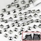 100 x Nuevo 10mm Remaches Tachuelas Pirámide Gris Oscuro para Decorar Bolso