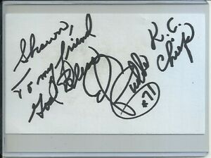 Ed Budde NFL Football Autographed Signed Index Card