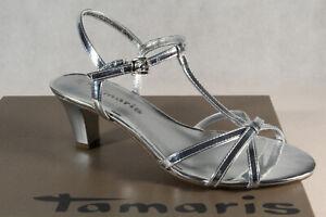 Détails sur Tamaris Sandale Femme Sandales Sandalette Sandalettes Argent 28329 Neuf