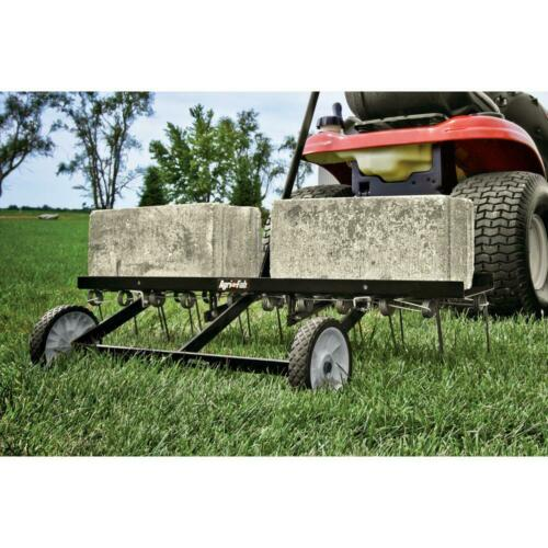 AGRI FAB 40 Inch Lawn Dethatcher Tow Behind Riding Mower Tractor Attachment Rake