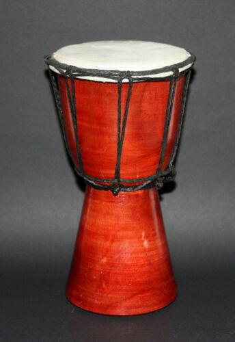 Trommel Djembe Holz Bongo Bali Percussion Handarbeit Holz Naturfell Holztrommel