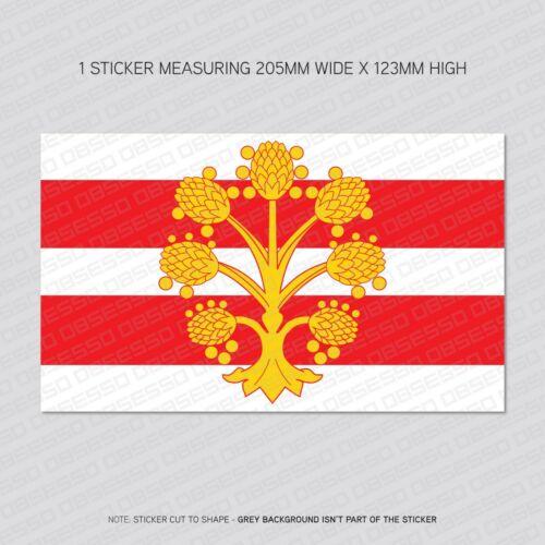 1 x Westmoorland County Flag Vinyl Stickers Decals Wall iPad Car Van SKU6103
