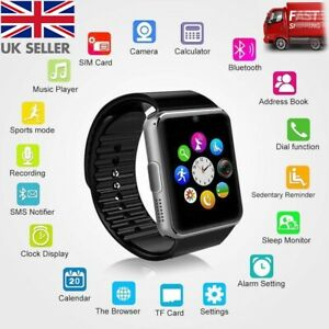 2019-Q18-GT08-Bluetooth-Smart-Watch-pour-Android-IOS-iPhone-Apple-GSM-GPRS-SIM-UK
