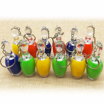 12 Bowling Pins LED Schlüsselanhänger Kegeln Mitgebsel Mitbringsel Taschenlampe