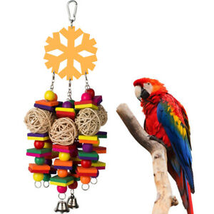 QA-LX-FM-Pet-Parrot-Bird-Chewing-Wood-Blocks-Ball-Play-Toy-Cage-Climbing-Ha